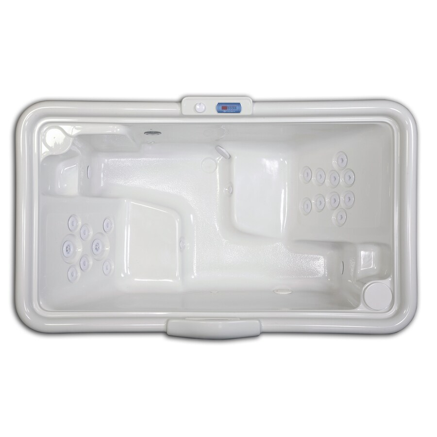 Revolution 2-Person Biscuit Acrylic Rectangular Whirlpool Tub ...