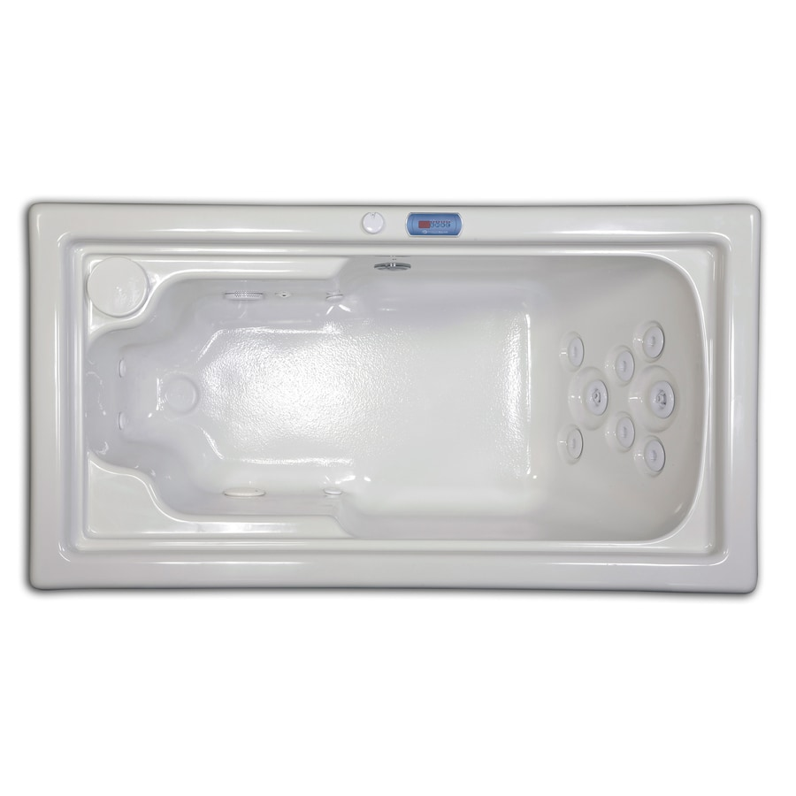 Hydreddi Revolution Revolution Biscuit Acrylic Rectangular Whirlpool Tub (Common: 32-in x 60-in; Actual: 26-in x 32-in x 60-in)