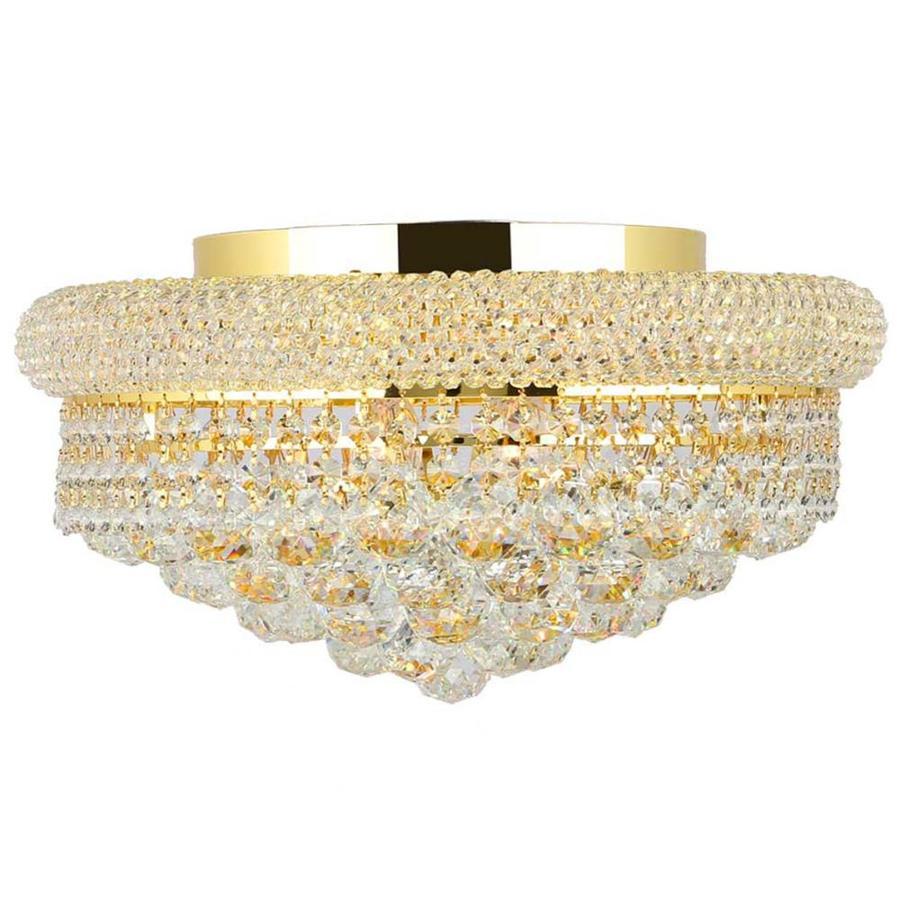 Worldwide Lighting Empire 16-in W Gold Ceiling Flush Mount Light