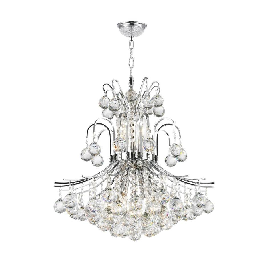 Worldwide Lighting Empire 19-in Polished Chrome Crystal Single Crystal Bell Pendant