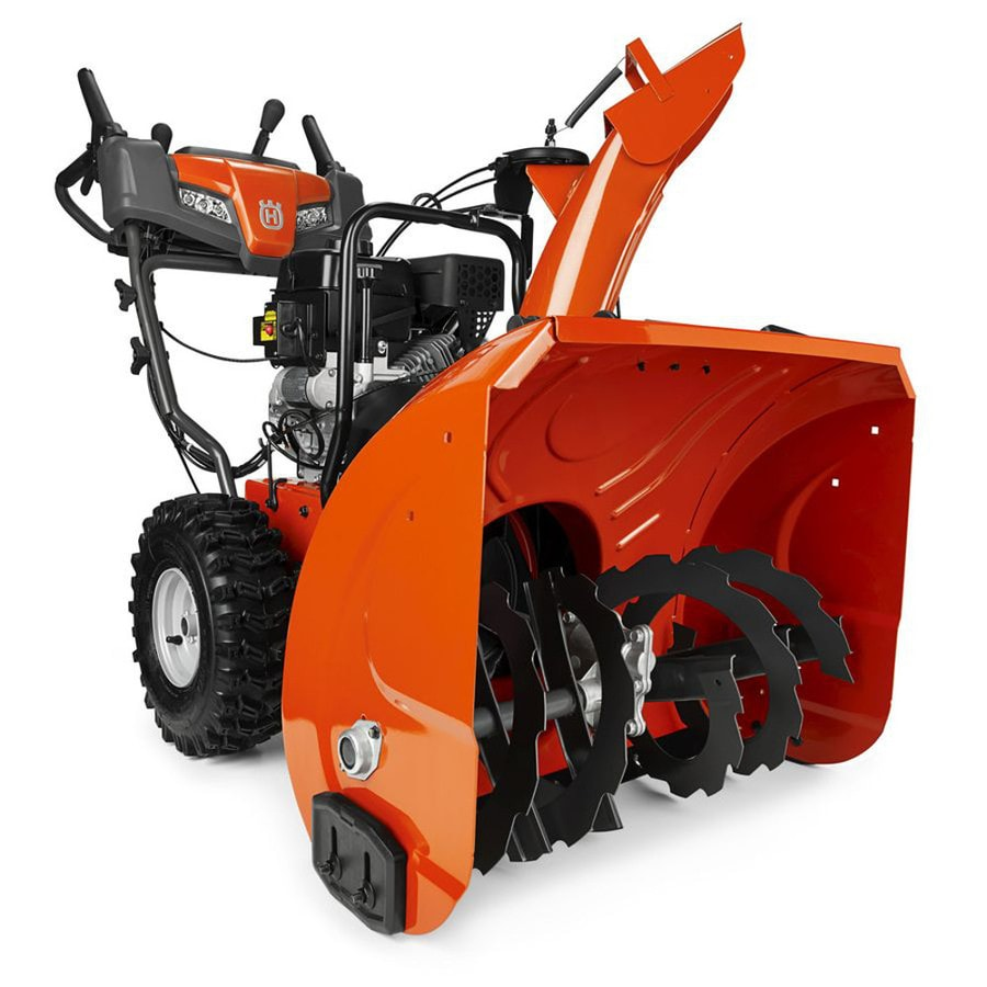 Husqvarna 254-cc 27-in Two-Stage Electric Start Gas Snow Blower with Heated Handles and Headlight