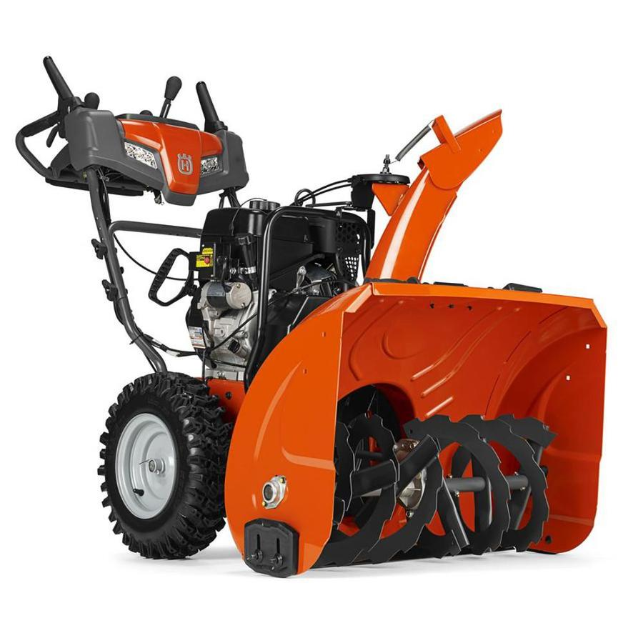 Husqvarna 291-cc 30-in Two-Stage Electric Start Gas Snow Blower with Heated Handles and Headlight
