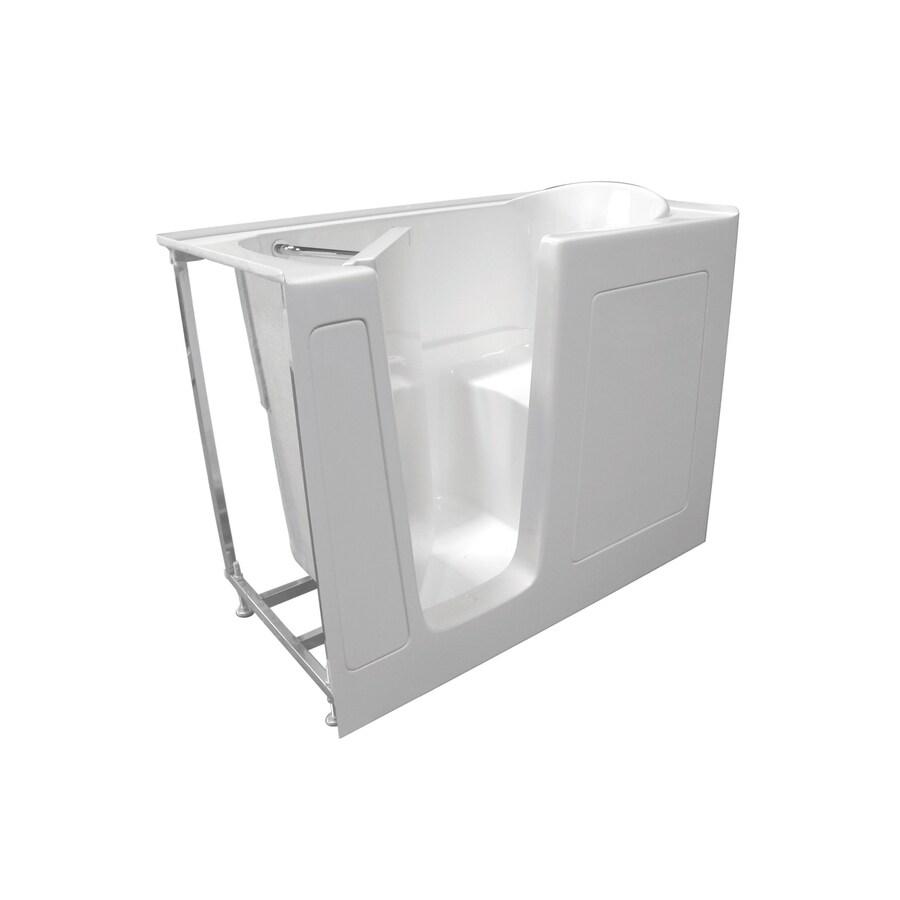 Total Care in Bathing White Gelcoat/Fiberglass Rectangular Walk-in Bathtub with Left-Hand Drain (Common: 30-in x 52-in; Actual: 40-in x 29.75-in x 52-in