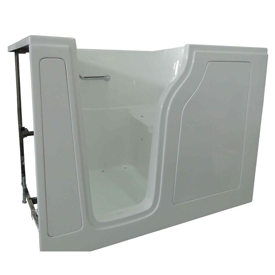 Total Care in Bathing White Gelcoat/Fiberglass Rectangular Walk-in Bathtub with Left-Hand Drain (Common: 35-in x 55-in; Actual: 41-in x 35-in x 55-in