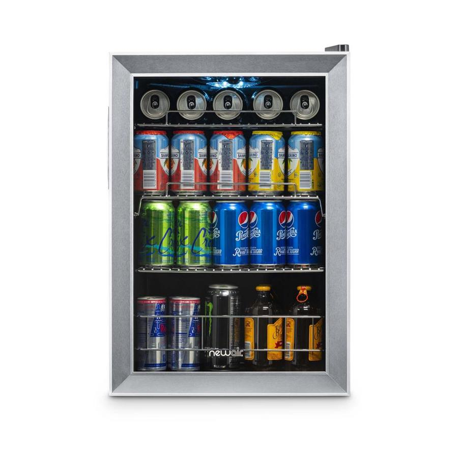 NewAir 4.5-cu ft Stainless Steel and Black Freestanding Beverage Center