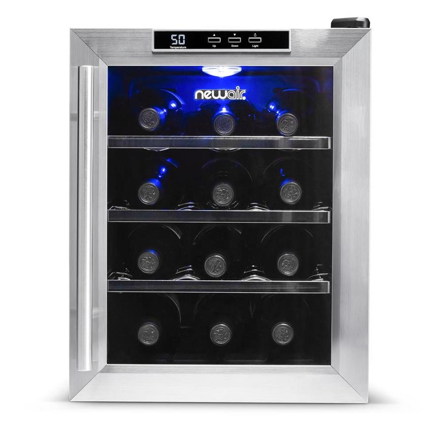 NewAir 12-Bottle Stainless Steel Wine Chiller