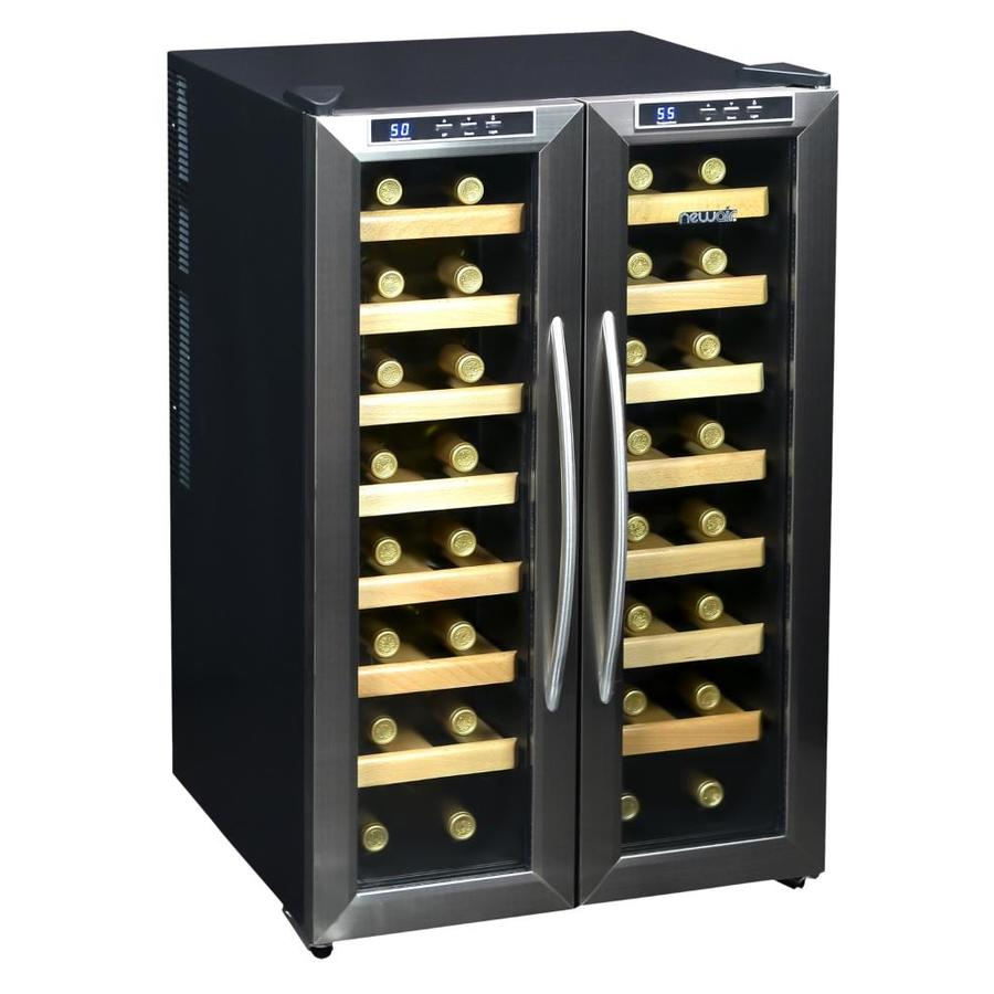 NewAir 32-Bottle Stainless Steel Dual Zone Wine Chiller
