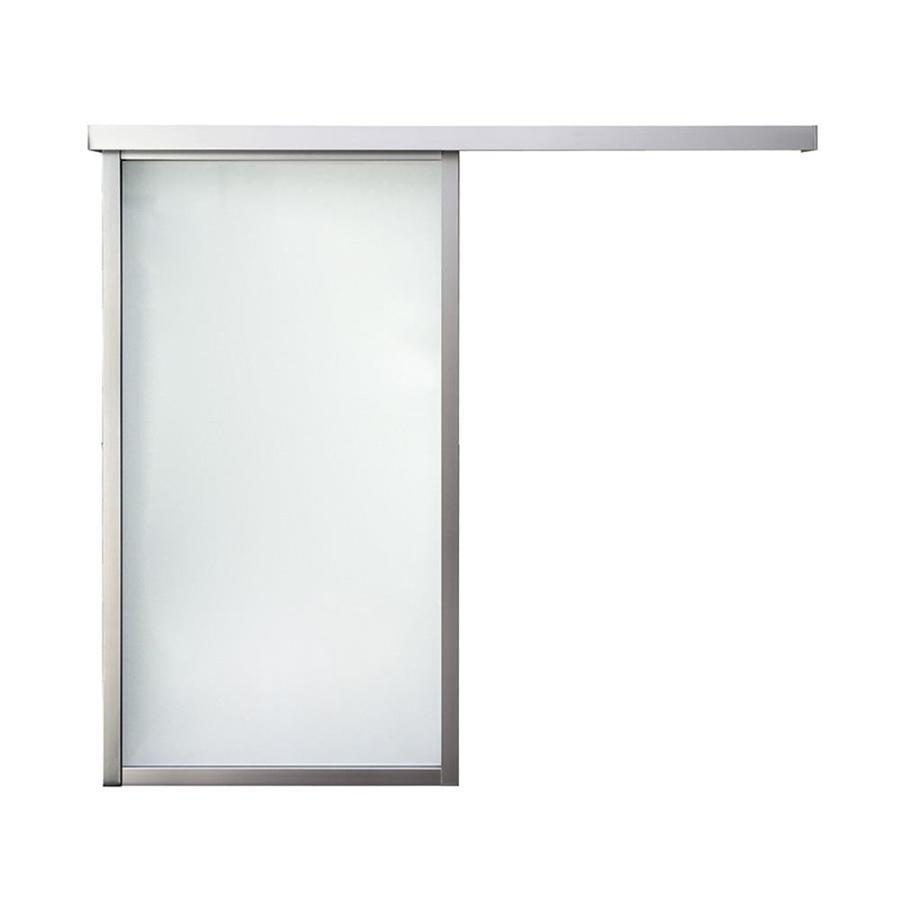 ReliaBilt 9851 Boston Wall Slider 1-Lite Laminated Glass Barn Interior Door (Common: 30-in x 80-in; Actual: 30-in x 79.5625-in)