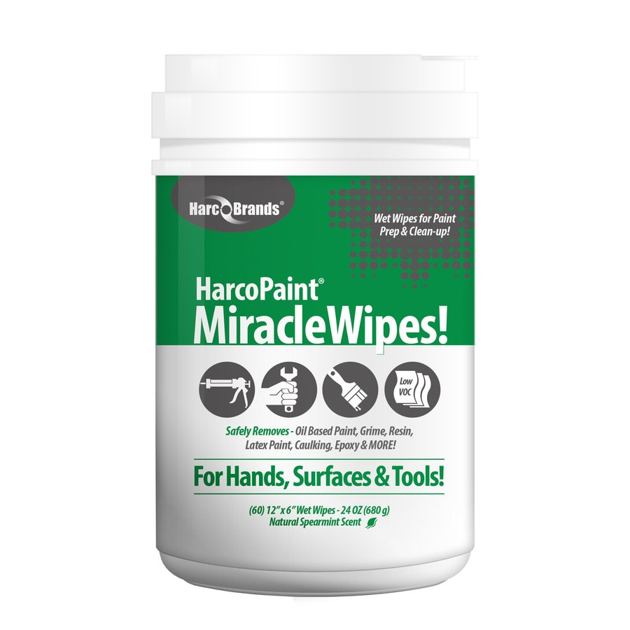HarcoPaint MiracleWipes 60-Count Wipes Multi-Surface Paint Remover