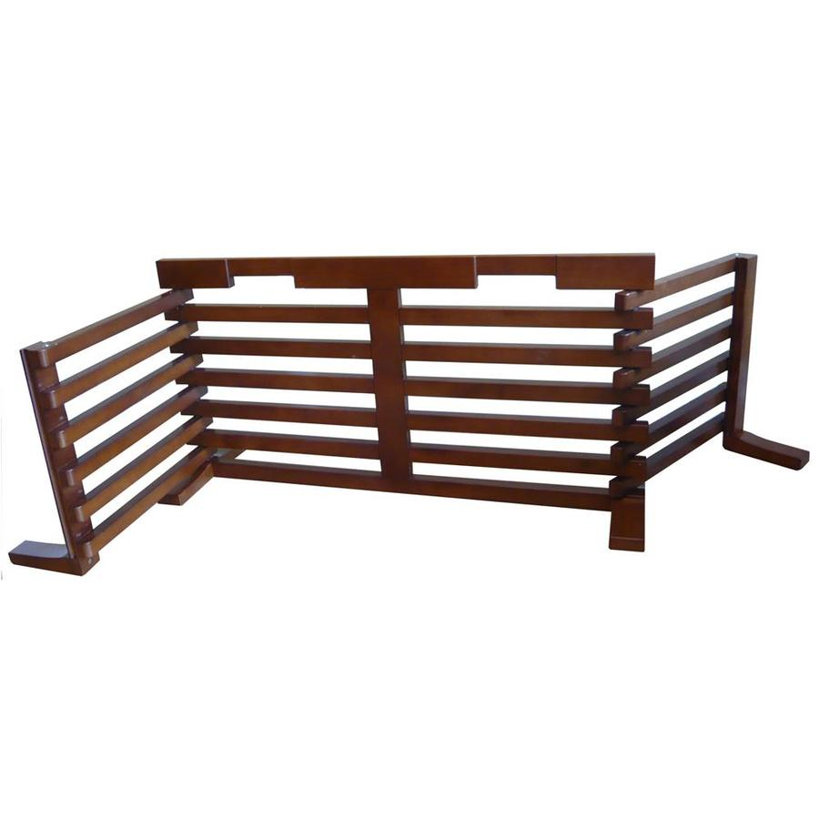 Merry Pet 40-in W Freestanding Wood Expandable Pet Gate