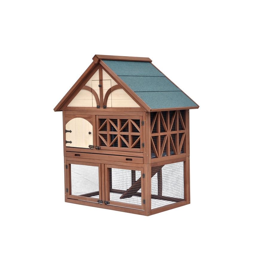 Merry Pet Oil Based Stain Wood Rabbit Hutch