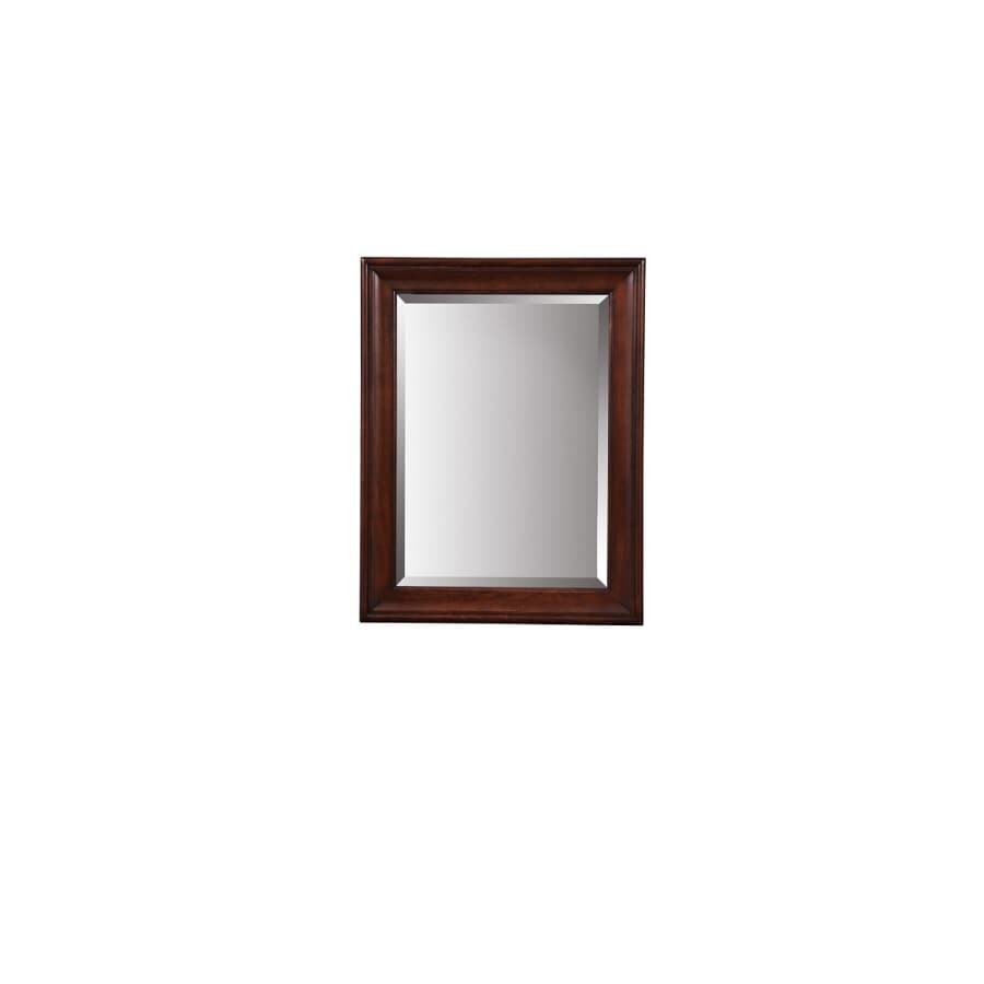 allen + roth Rosemere 28-in W x 36-in H Auburn Rectangular Bathroom Mirror