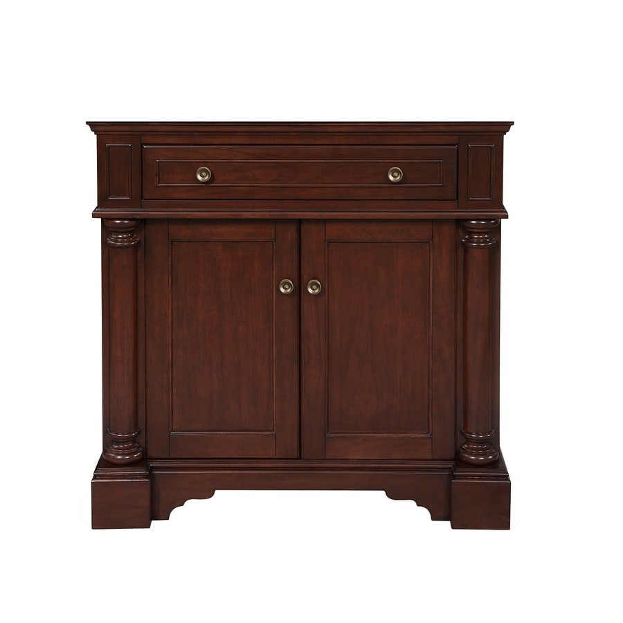 allen + roth Rosemere Auburn Traditional Bathroom Vanity (Common: 36-in x 21-in; Actual: 36-in x 21.5-in)