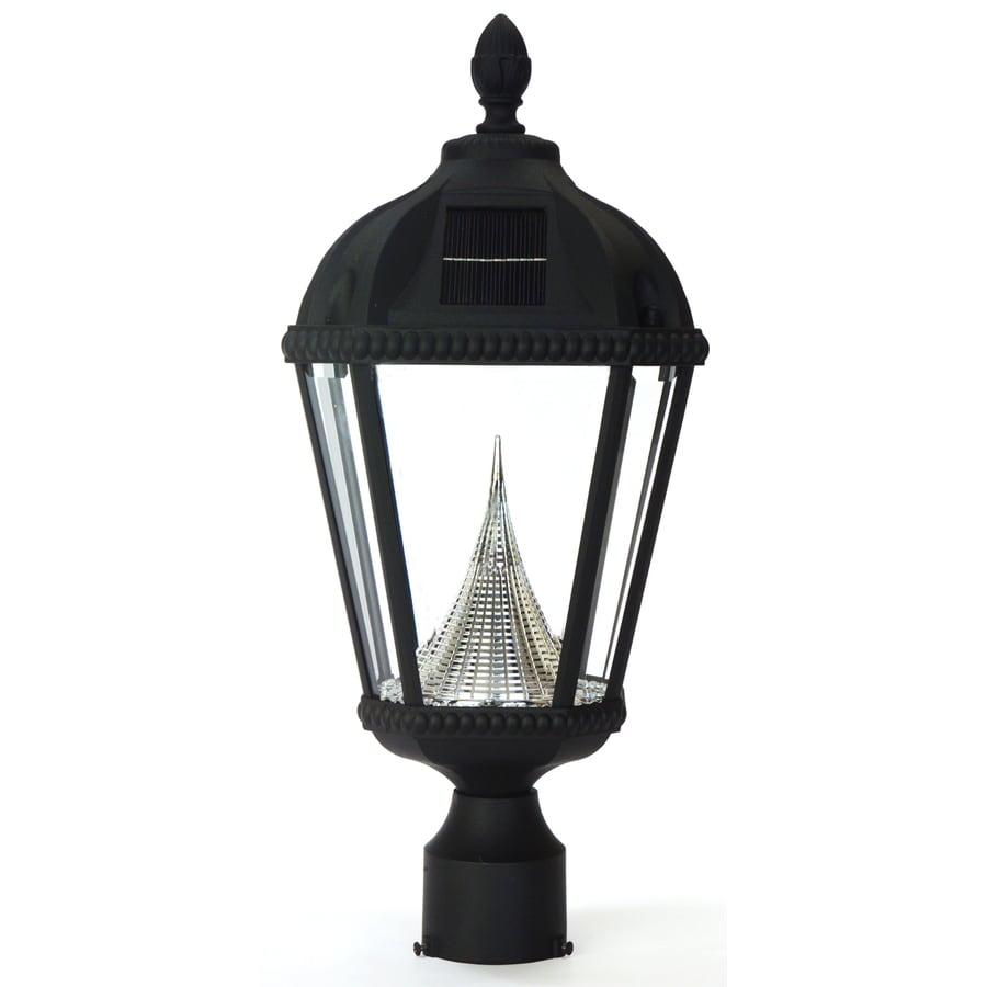 shop gama sonic royal 18 in h black solar led post light at. Black Bedroom Furniture Sets. Home Design Ideas