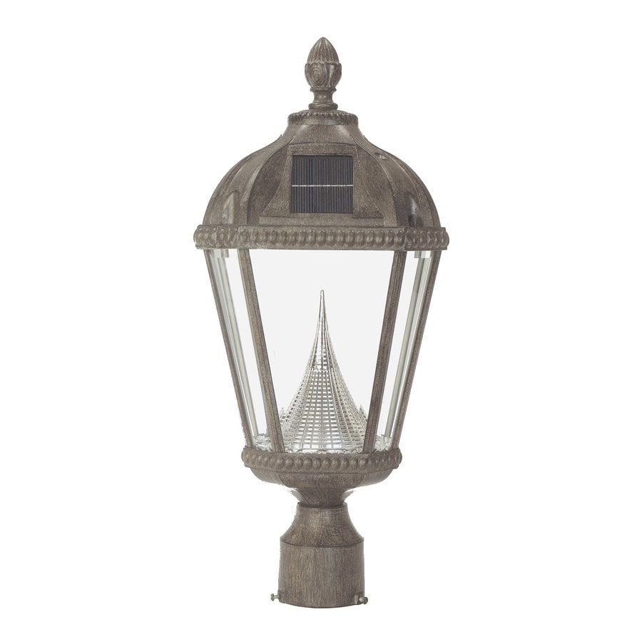 Gama Sonic Royal 20.5-in H Weathered Bronze Solar LED Post Light