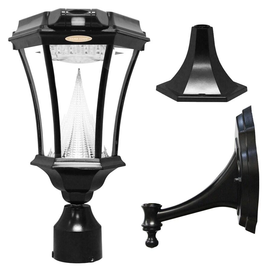 Gama Sonic Victorian 18-in H Black Solar LED Post Light