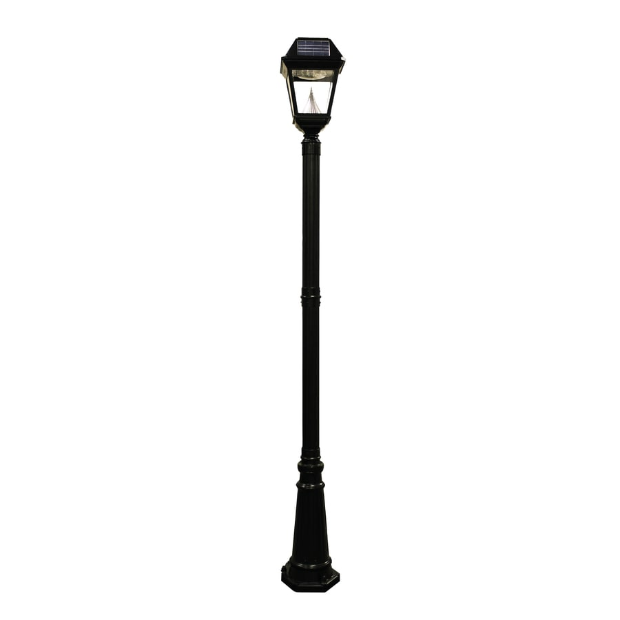 Gama Sonic Imperial-2 97-in H Black Solar LED Complete Post Light