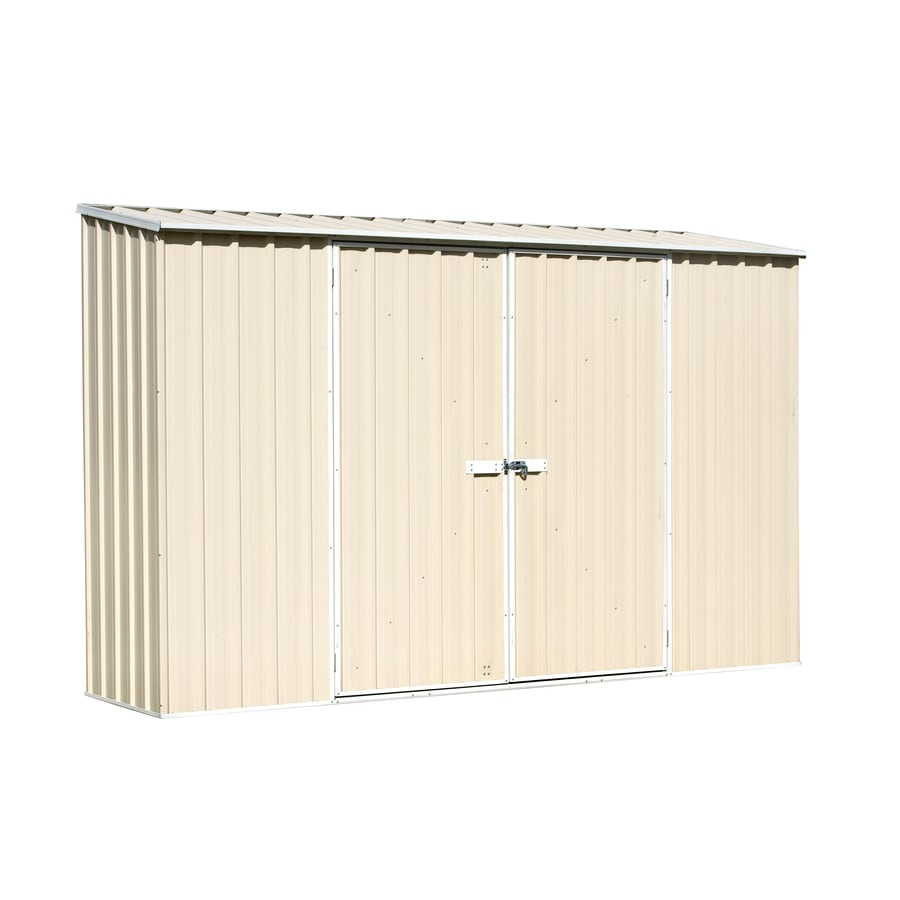 Spacesaver Shed Galvanized Steel Storage Shed (Common: 10-ft x 3-ft; Interior Dimensions: 9.68-ft x 2.4-ft) Product Photo