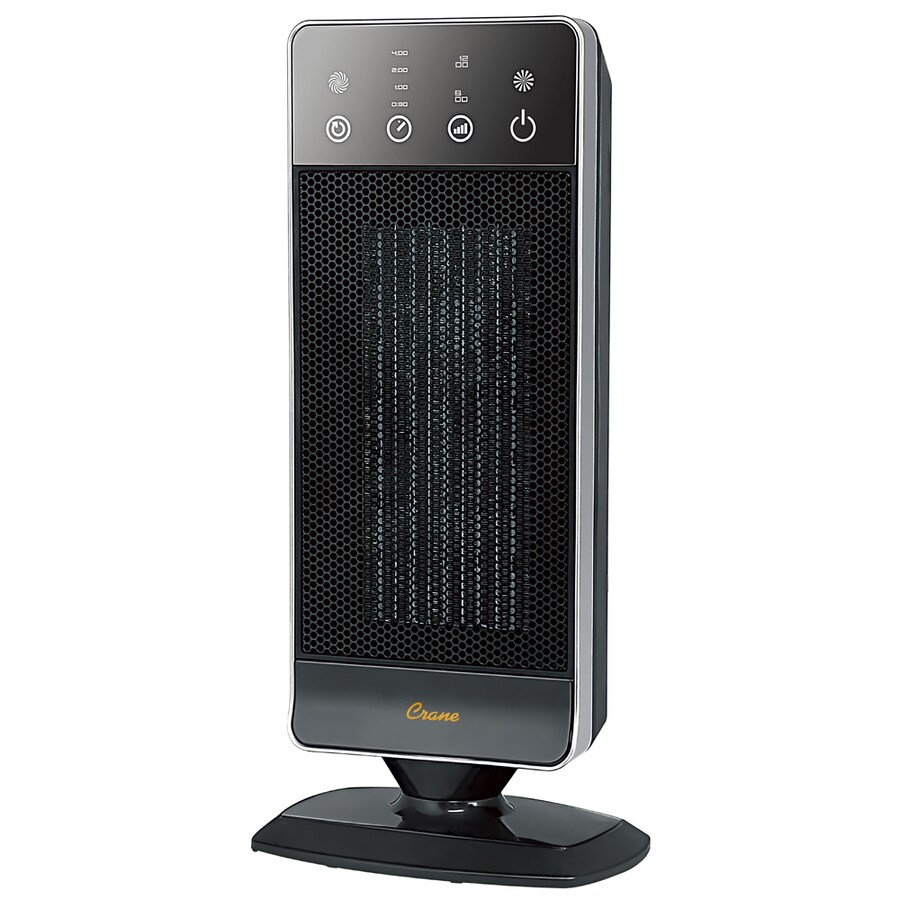 Crane 4,500-BTU Ceramic Tower Electric Space Heater with Thermostat