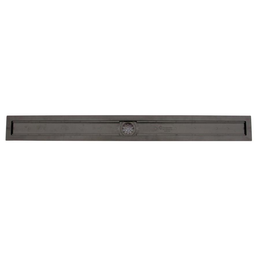 Compotite 42-in Linear Drain Body 2-in Dia Black ABS Linear Shower Drain