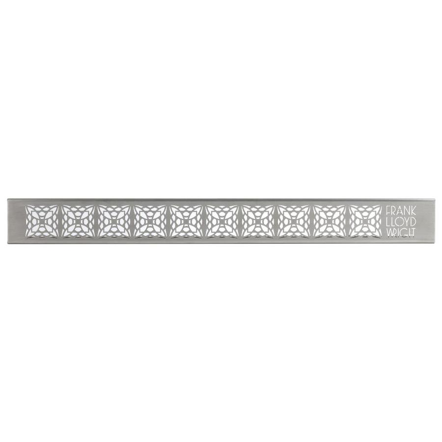 Compotite 42-in Frank Lloyd Wright Mimosa Design Stainless Steel Grate