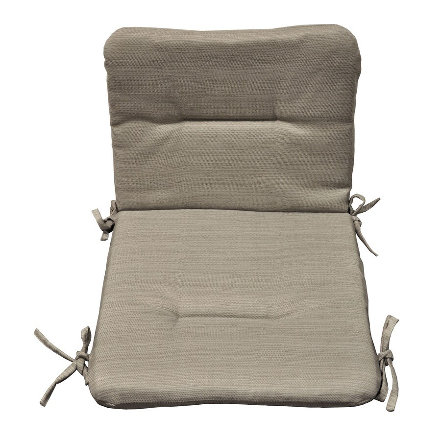 allen + roth 36.5-in L x 19.5-in W Natural Patio Chair Cushion