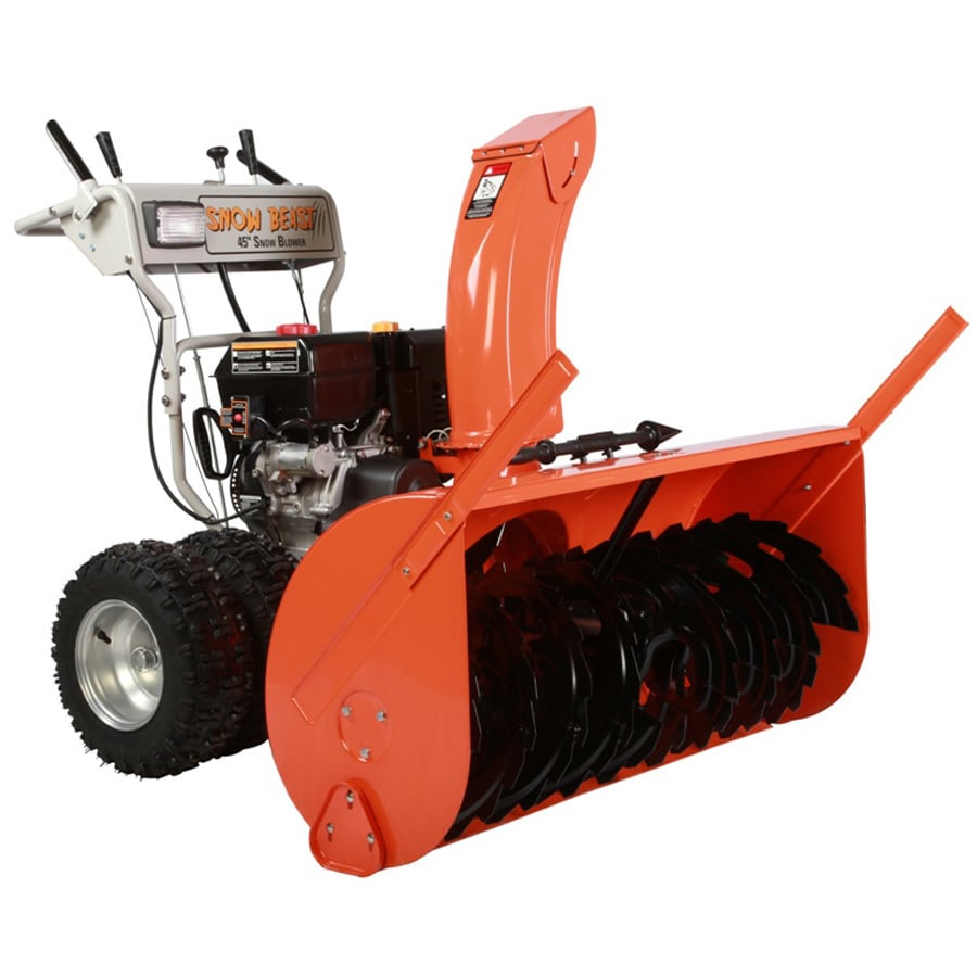 Snow Beast Commercial 420cc 45-in Two-Stage Electric Start Gas Snow Blower with Headlights