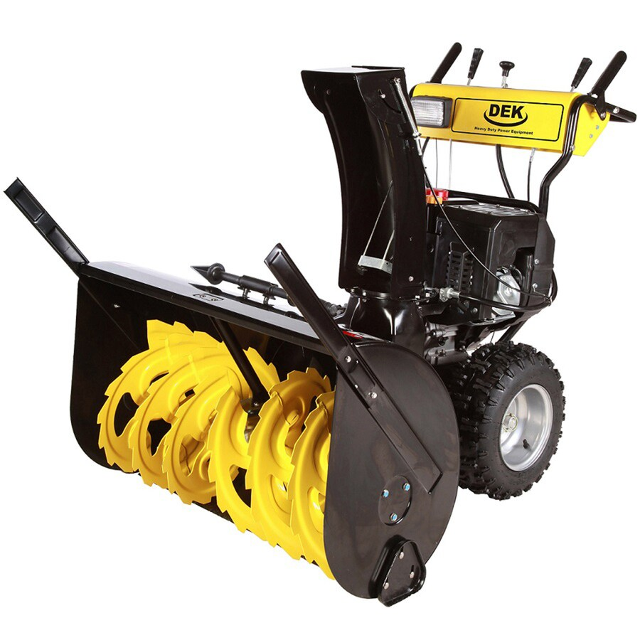 DEK Commercial 420cc 36-in Two-Stage Electric Start Gas Snow Blower with Headlights