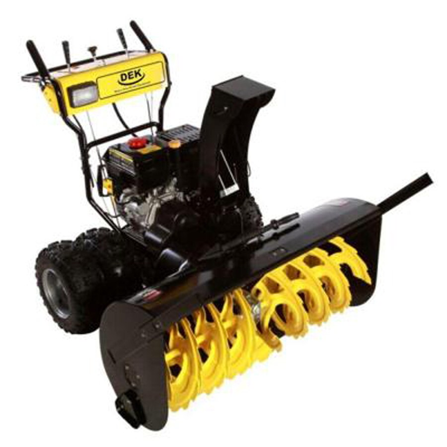 DEK Commercial 420cc 45-in Two-Stage Electric Start Gas Snow Blower with Headlights
