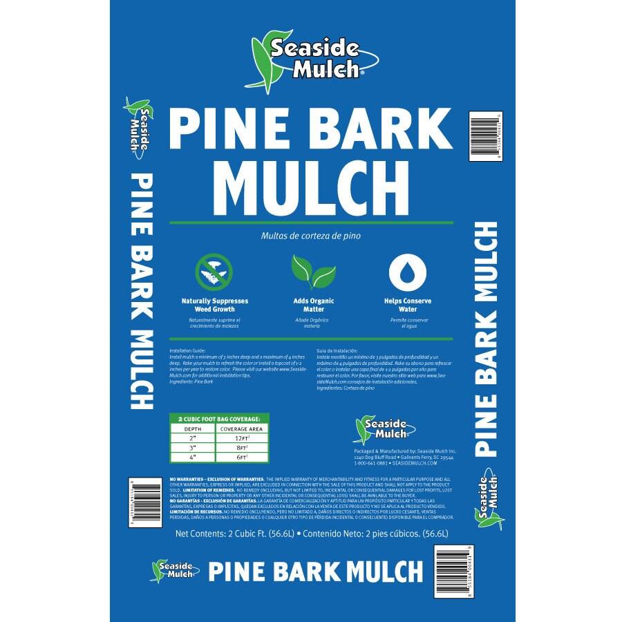 Seaside Mulch 2-cu ft Dark Brown Pine Bark Mulch