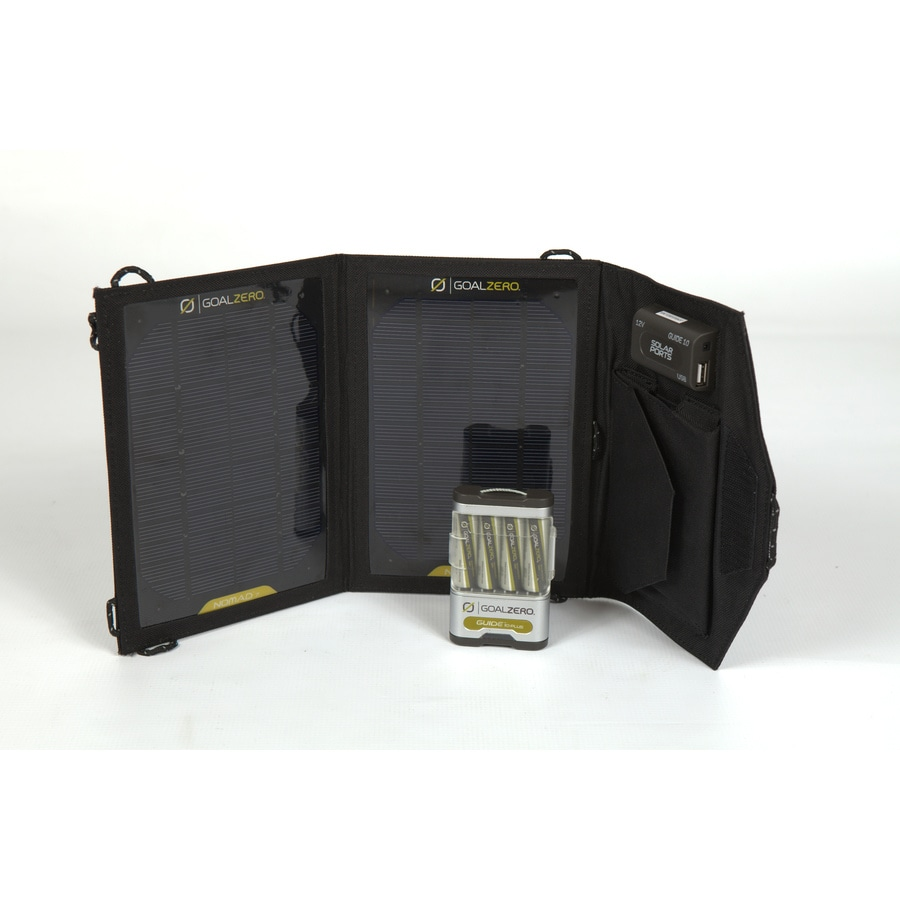 GOAL ZERO Guide 10 Plus Adventure Kit 14-Volt Portable Solar Power Kit