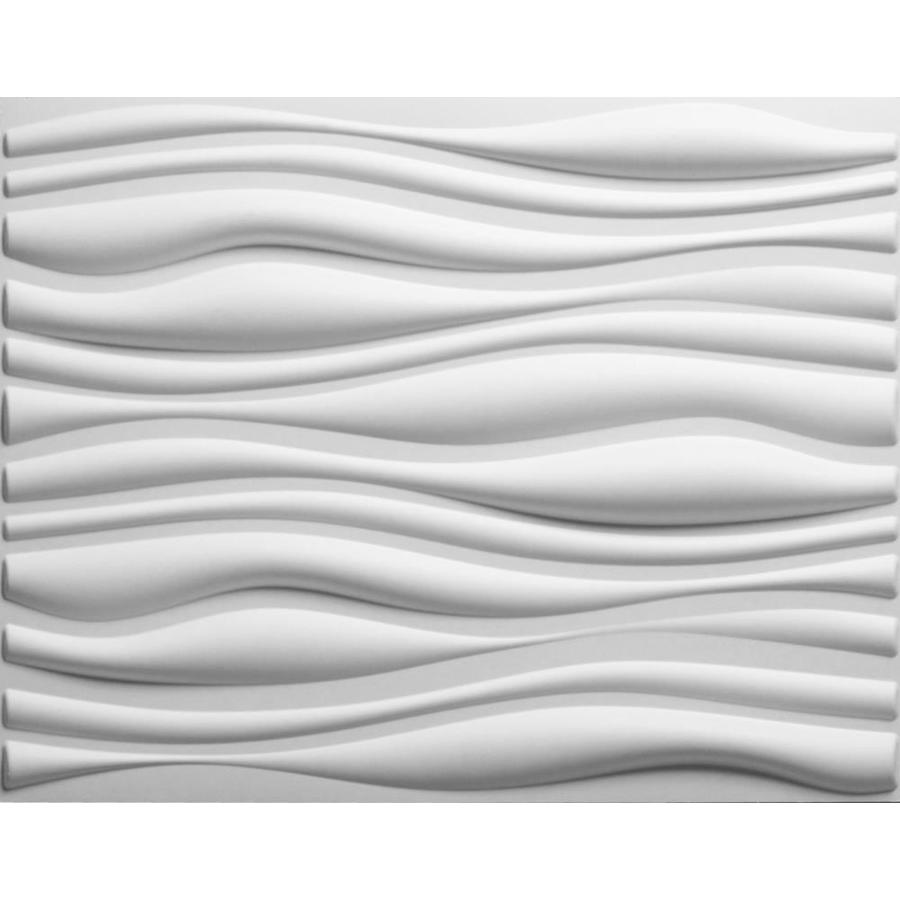 threeDwall Threedwall 1.63-in x 2.05-ft Embossed Off-White Bamboo Hardboard Wainscoting Wall Panel