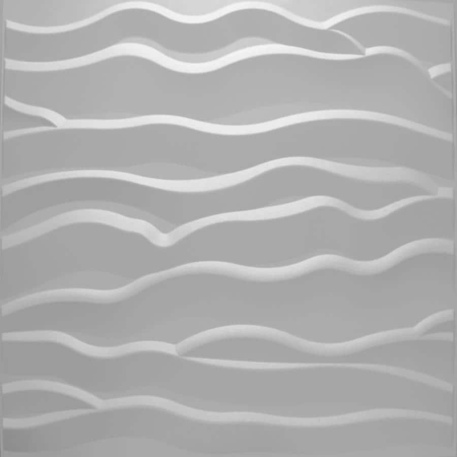 threeDwall Threedwall 2.05-in x 2.05-ft Embossed Off-White Bamboo Hardboard Wainscoting Wall Panel