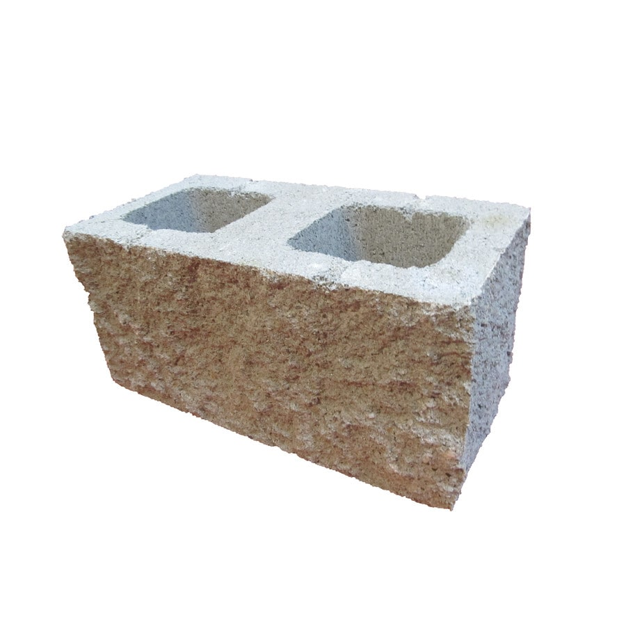Split Faced Cored Concrete Block (Common: 8-in x 8-in x 16-in; Actual: 7.625-in x 7.625-in x 15.625-in)
