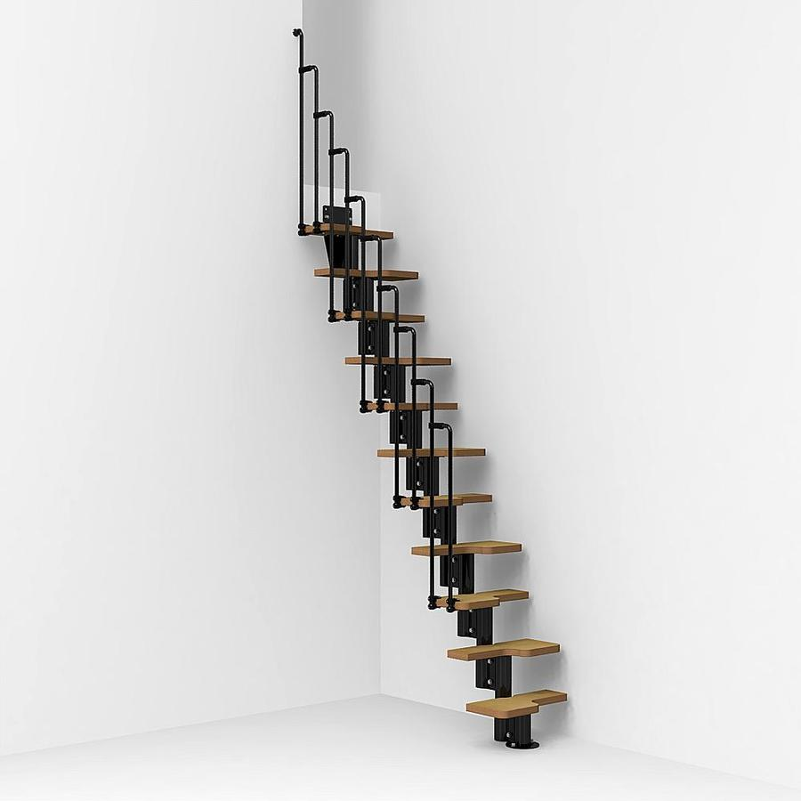 Arke Nice2 x 9.7-ft Black Modular Staircase Kit