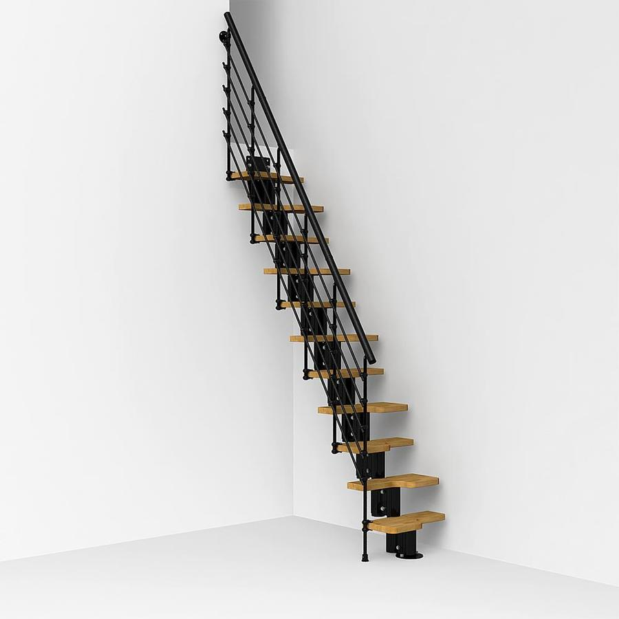 Arke Oak Xtra x 9.1-ft Black Modular Staircase Kit