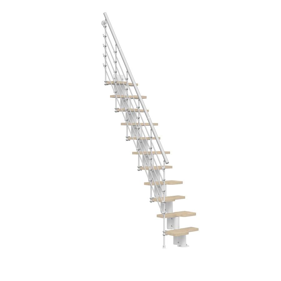 Arke Oak 30.Xtra 5-ft White Painted Powder-Coated Steel Stair Railing Kit