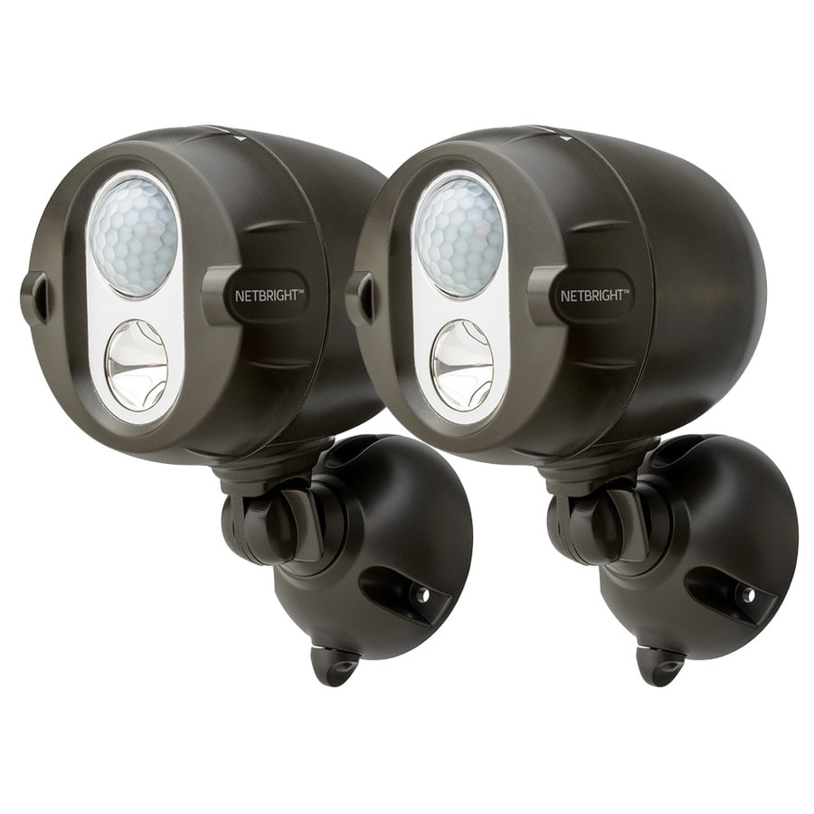 Mr Beams Netbright 180-Degree 2-Head Brown LED Motion-Activated Flood Light