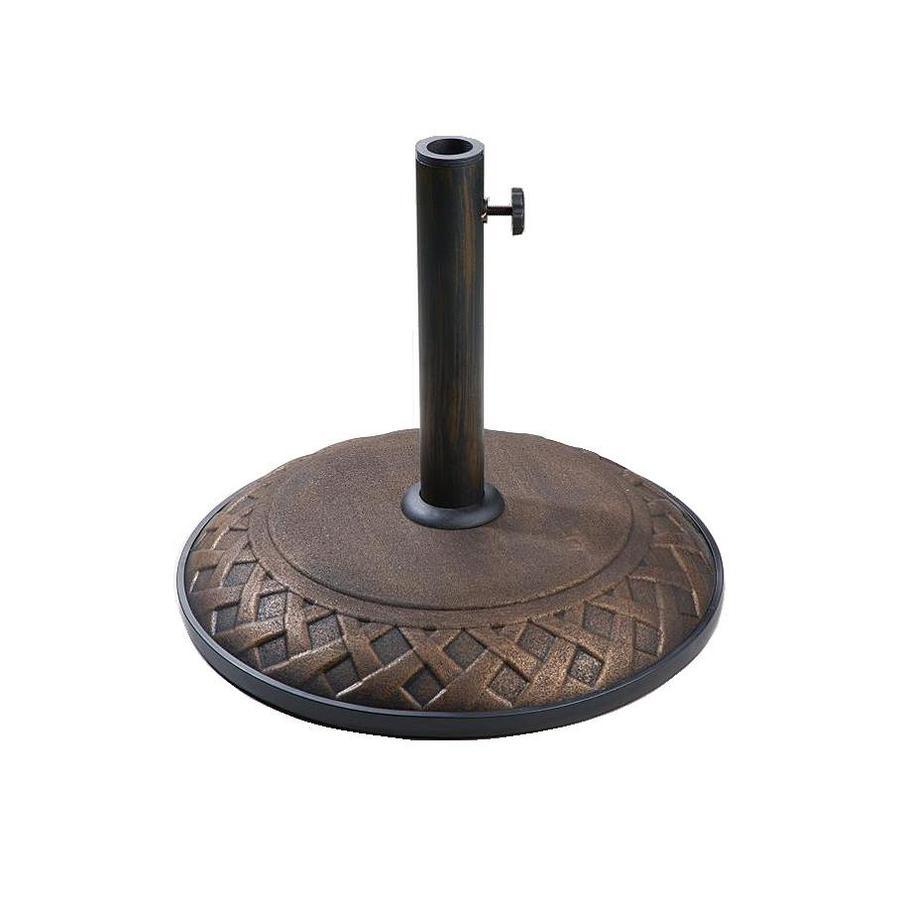 Umbrella Stand Lowes: Shop Lauren & Company Bronze Concrete Umbrella Base At