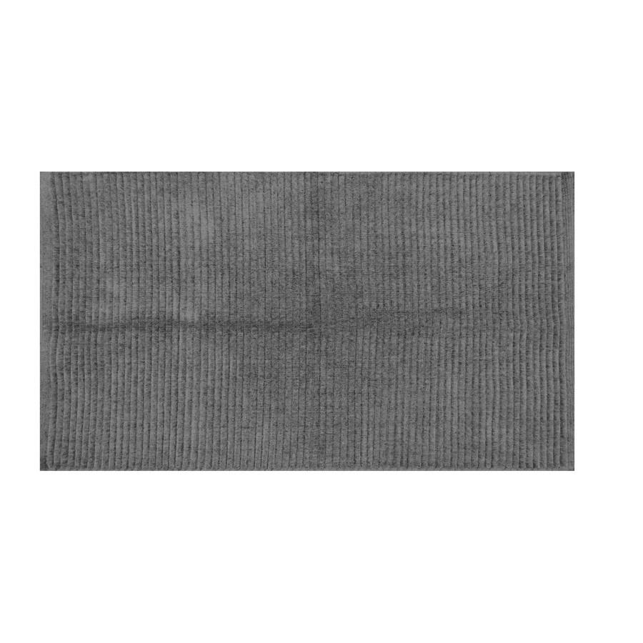 Grey Rectangular Indoor Woven Throw Rug
