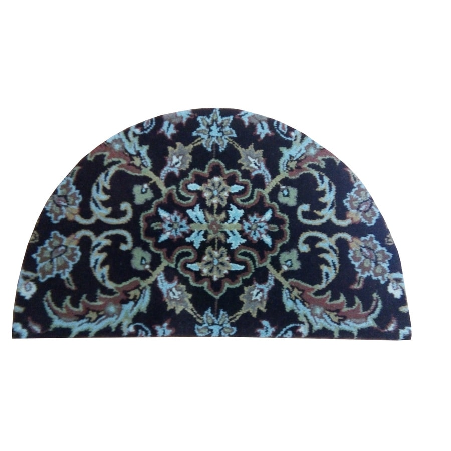 Semicircular Indoor Tufted Throw Rug (Common: 2 x 3; Actual: 24-in W x 40-in L)