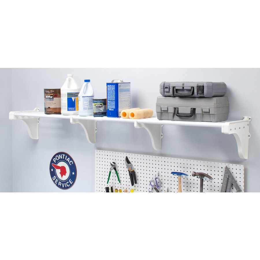 EZ Shelf 3.33-ft to 6.25-ft White Adjustable Mount Wire Shelving Kits