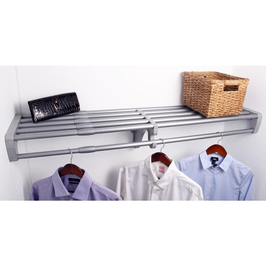 EZ Shelf 3.33-ft to 6.08-ft Silver Adjustable Mount Wire Shelving Kits