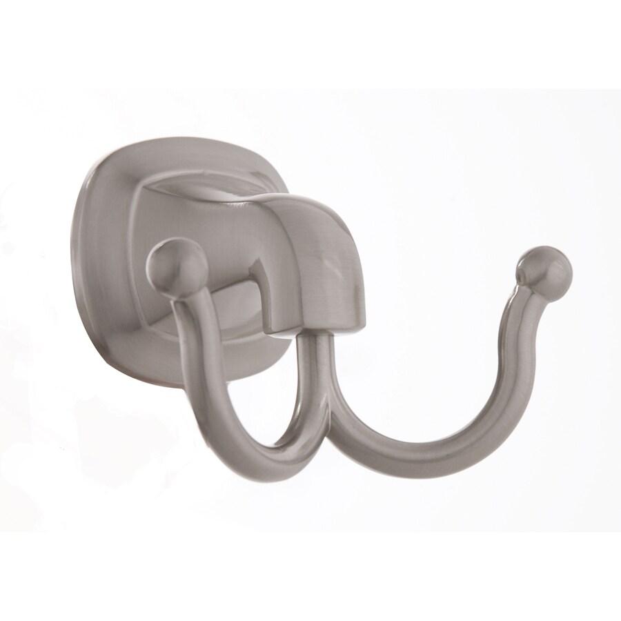 ARISTA Belding 2-Hook Satin Nickel Robe Hook