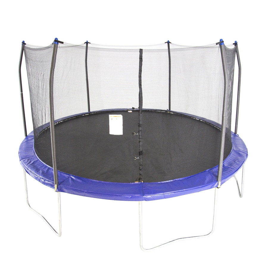 Kidwise Jumpfree 15 Ft Trampoline And Safety Enclosure: Shop Skywalker Skywalker 15-ft Round Black Backyard