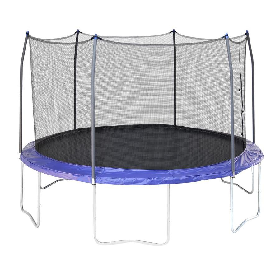 Skywalker Skywalker 12-ft Round Black Backyard Trampoline with Enclosure