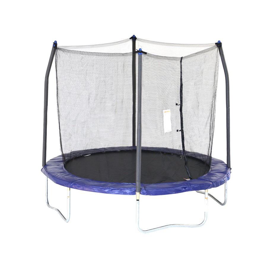 Skywalker Skywalker 8-ft Round Blue Backyard Trampoline with Enclosure