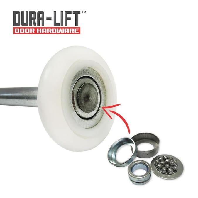 Dura Lift Ultra Quiet 2 In 13 Ball Bearing 10 Pack Stainless Steel Nylon Garage Door Roller In The Garage Door Parts Hardware Department At Lowes Com