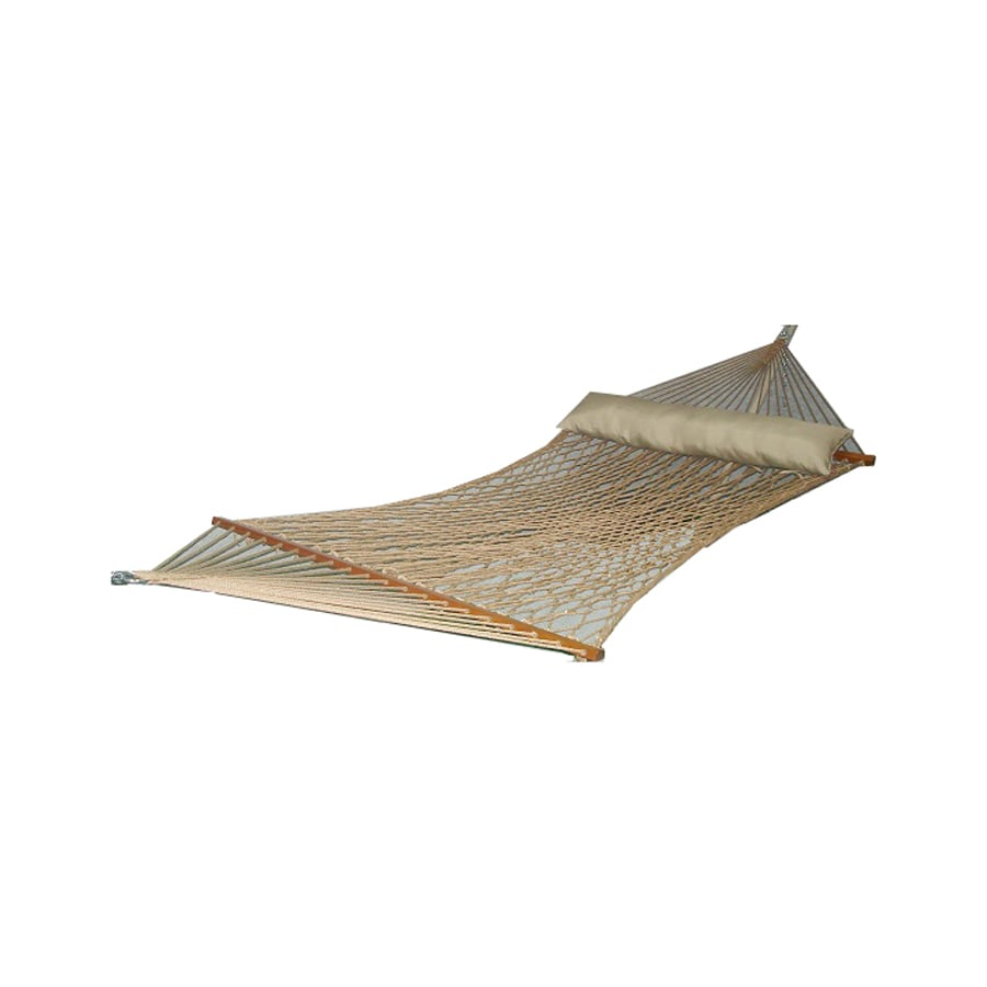 Garden Treasures 13-ft Brown Polyester Double Hammock
