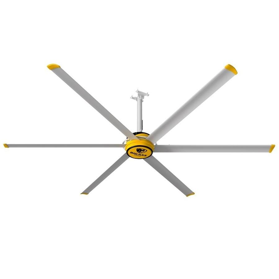 Shop Big Ass Fans 120 In Silver And Yellow Downrod Mount